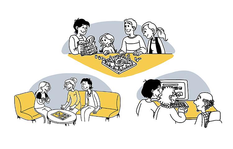 Kuvituskuva kommunikoinnin kuntoutuksesta